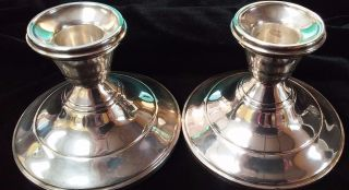 Vintage Sterling Silver Candle Sticks Made In Usa By National Silver Company photo