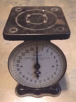 Vintage American Cutlery Postal Scale Weighs Ounces To 25 Lbs.  Patented 1912 photo