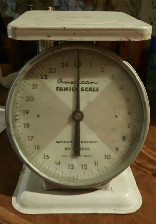 Vintage 25 Pound American Family Collectible Kitchen Scale photo