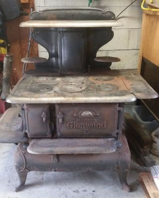 Antique Glenwood Wood Cook Stove Modern E photo