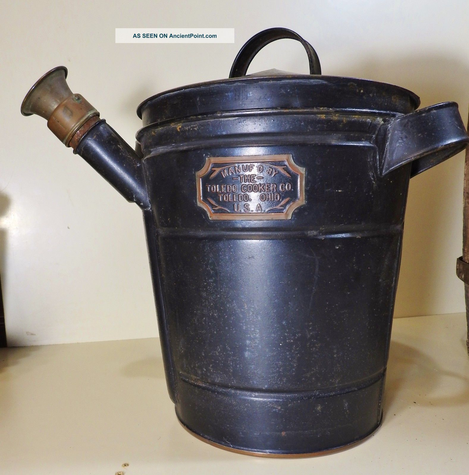 Rare Antique Toledo Cooker Steamer Pot For Clam Lobster Seafood Decor Hearth Ware photo