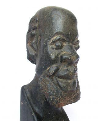 African Zimbabwe Vintage - Art,  Carved Shona Sculpture,  Stone Statue photo