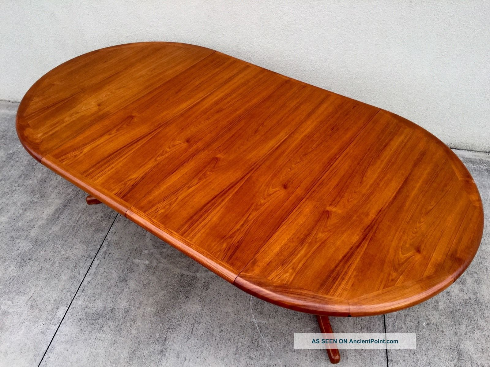 Mid Century Danish Modern Teak Dining Table Post-1950 photo