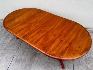 Mid Century Danish Modern Teak Dining Table photo