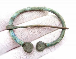 Viking Era Bronze Omega Brooch / Fibula - Ancient Fascinating Artifact - D336 photo