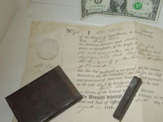 1811 Seaman ' S Papers Haven Ct Maritime History:protection Of American Seamen photo
