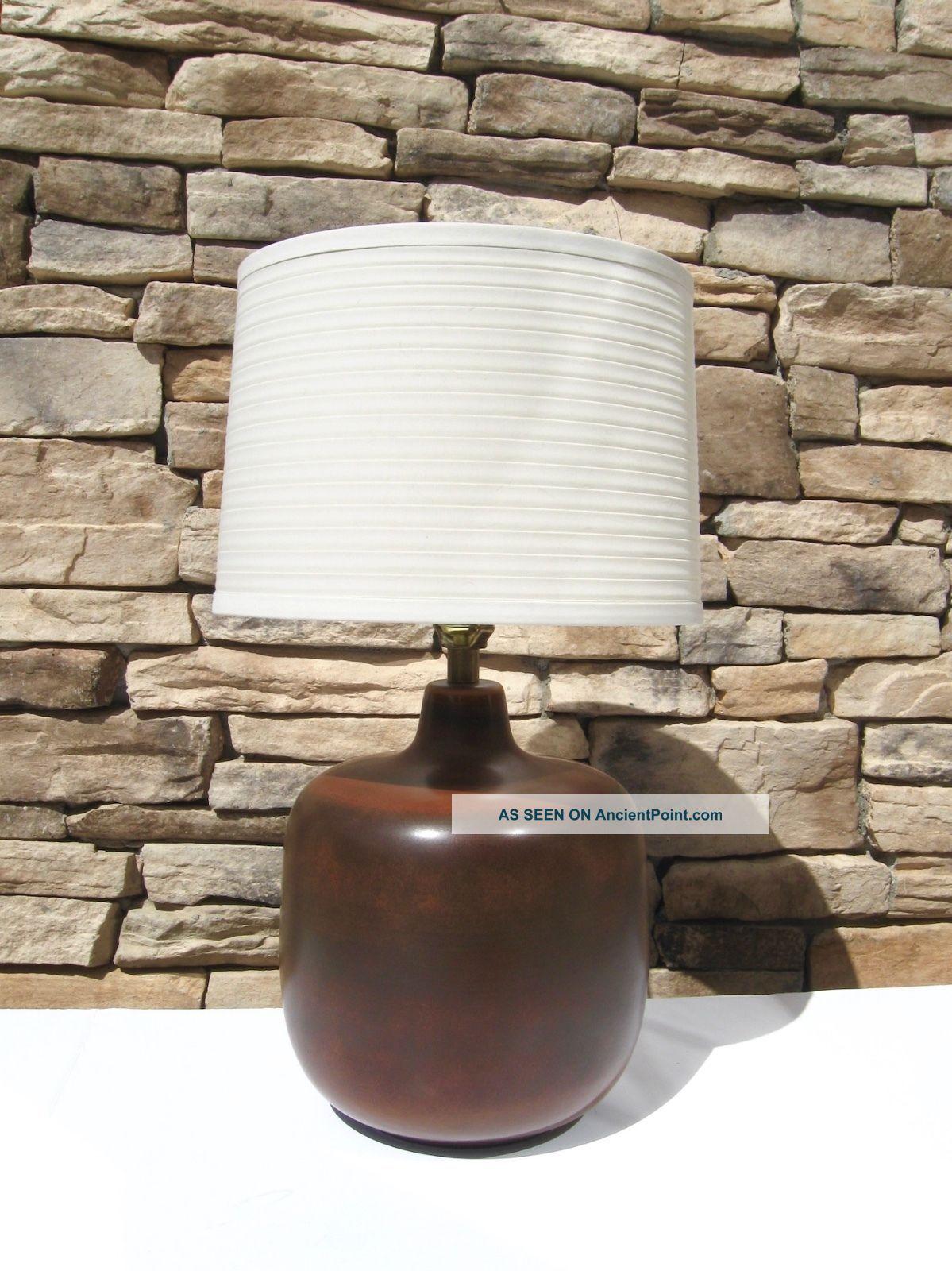 Vintage Mid Century Danish Modern Lotte & Gunnar Bostlund Ceramic Lamp Martz Era Mid-Century Modernism photo