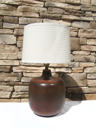 Vintage Mid Century Danish Modern Lotte & Gunnar Bostlund Ceramic Lamp Martz Era photo