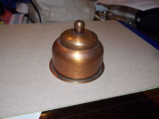 Roycroft Copper Arts & Crafts Movement Inkwell Circa 1920 ' - 30 ' S photo