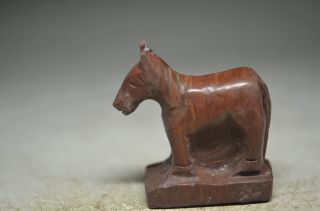 Delicate Chinese Stone Hand Carved Horse Statue Cd11 photo