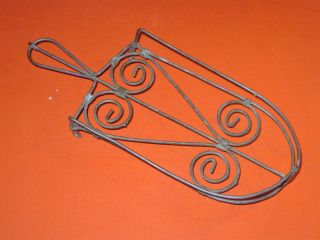 Vintage Primitive Old Twisted Wire Trivet Stand For A Clothes Iron Folky photo