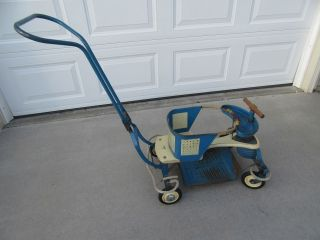 Vintage 1950 ' S Blue Firestone Baby Walker Stroller - Convertible - photo