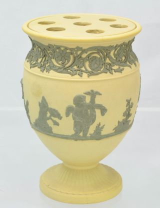 Rare Antique Wedgwood Caneware And Drab Jasper Bough Vase Early 19th Century photo