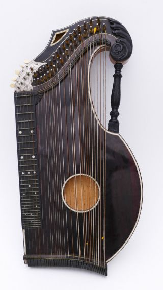 Art Nouveau Historical Autoharp Zitter Zither No Guitar Lute Luthe Kellermann photo