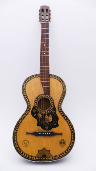 Ridi Fine Old Antique Old Parlour Parlor Vintage Acoustic Or Classical Guitar photo