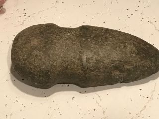 Anitique Native American Stone Axe Head 1 3/4 Groove Northwest Okla photo