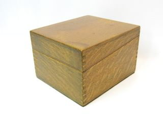 Vintage Wooden Quarter - Sawn Oak Finger - Jointed Trinket Box photo