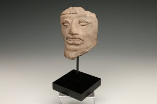 Pre - Columbian Head Fragment 400 - 900 A.  D. photo