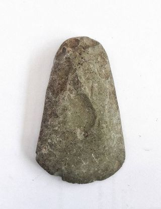 Prehistoric Neolithic Ancient Stone Axe Artifact Butted Tool photo