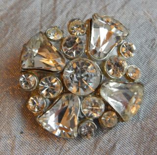 Vintage Rhinestone Button 606 - A photo