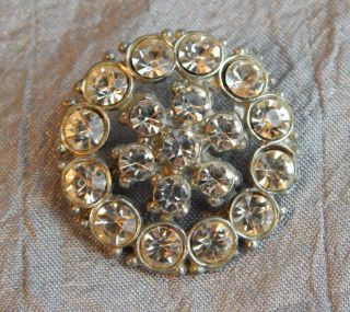 Vintage Rhinestone Button 605 - A photo