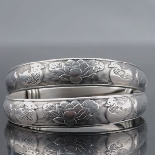 Chinese Tibet Silver Handwork National Fashion Bracelet @aa204 photo