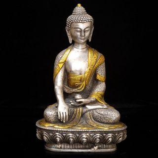 Vintage Cupronickel Gilt Tibetan Buddhism Statue - - - - Vajrasattva A1 photo