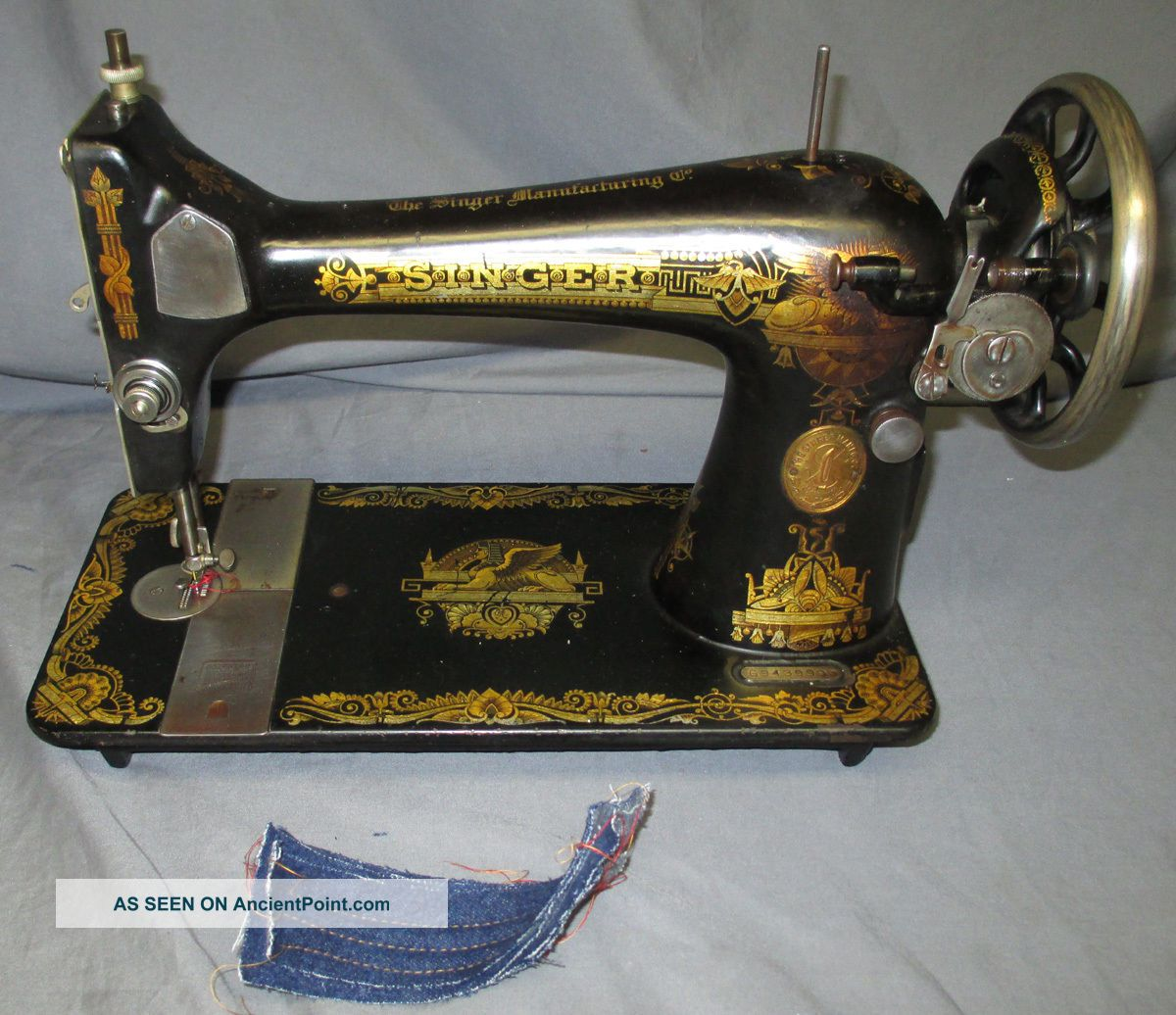 Serviced Antique 1922 Singer 127 Sphinx Treadle Sewing Machine Worx Video Sewing Machines photo