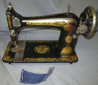 Serviced Antique 1922 Singer 127 Sphinx Treadle Sewing Machine Worx Video photo