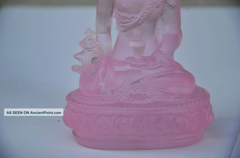 Exquisite Chinese Coloured Glaze Hand Carved Shakya Mani Statue Buddha photo