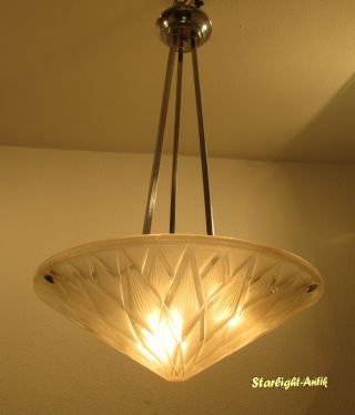 Wonderful French Art Deco Chandelier 1925/1930 - Signed: P.  D`avesn photo