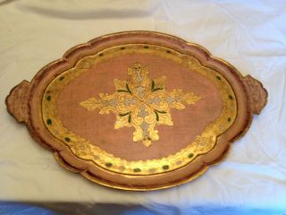Italian Florentine Pink Gilt Wood Tray Paris Apartment This Is A Gorgeous Italy photo