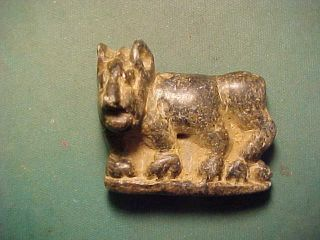 Bactrian Black Stone Quadruped Amulet. photo
