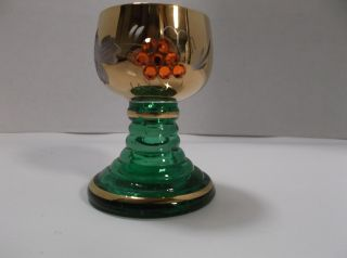 Vintage Green Romer Roemer Cordial Glass 2 3/4