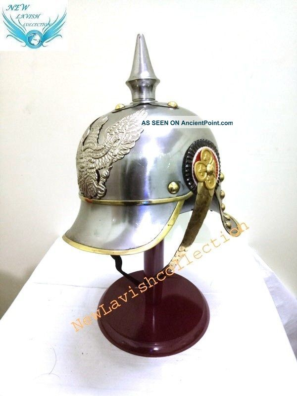 Ww1 Repro Silver Imperial German/prussian Cuirassier Pickelhaube Helmet Diving Helmets photo