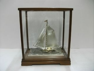 The Sailboat Of Silver960 Of Japan.  104g/ 3.  66oz.  Takehiko ' S Work. photo