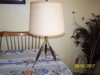 Gerald Thurston Tripod Table Lamp Vintage Mid - Century Modern Look photo