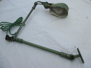 Vintage Fostoria Industrial Adjustable Work Light photo