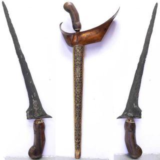 Kris Keris Magic Pamor Rojo Gundolo Blade Pusaka Sword Indonesia Dukun Java Art photo