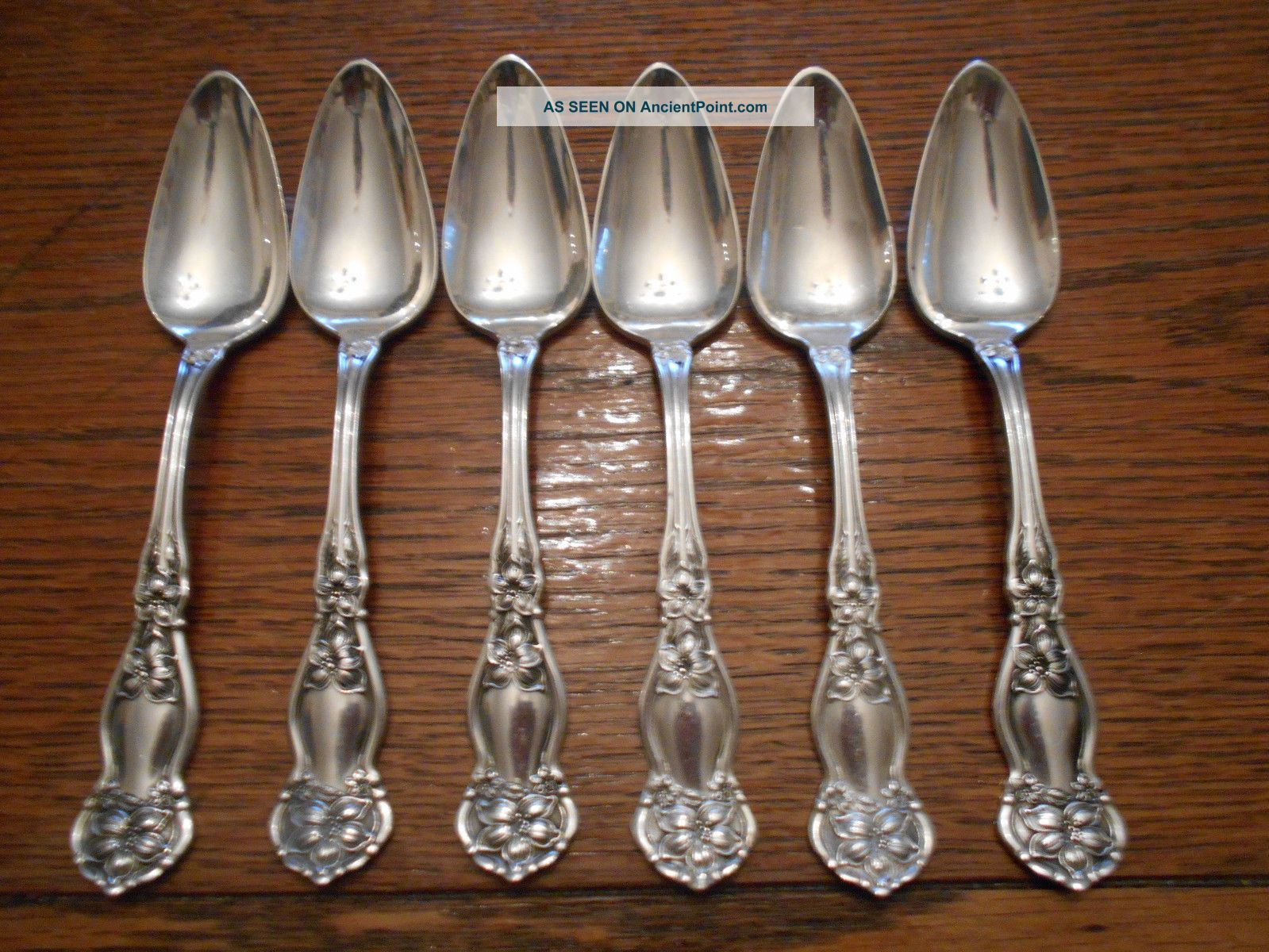 6 Rogers 1910 Orange Blossom Pattern Fruit Or Grapefruit Spoons Is Silverplate Flatware & Silverware photo