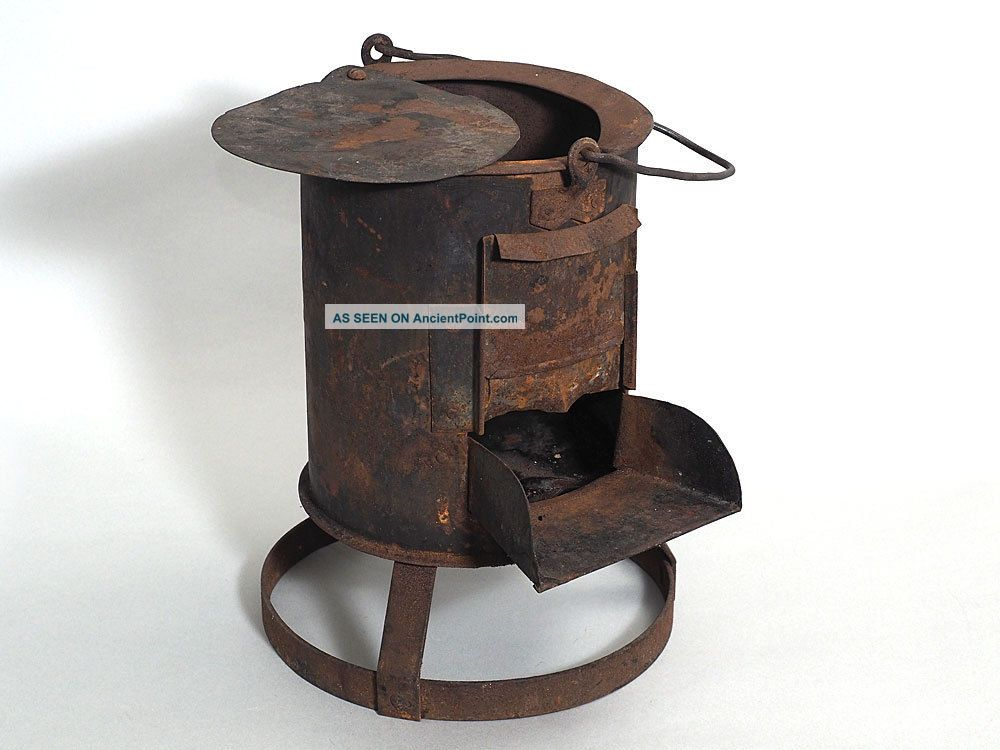 Primative Hobo Portable Coal Stove - 1930s Stoves photo