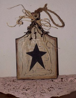 Primitive Crackle Star Wooden Cutting Board - Country Farmhouse Decor photo