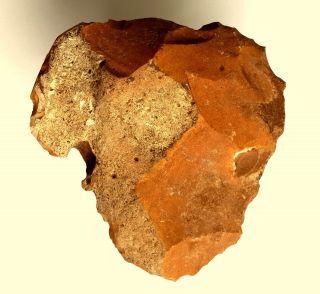 167 Gram Slim Hand Axe Scraper Neanderthal Paleolithic Tool photo