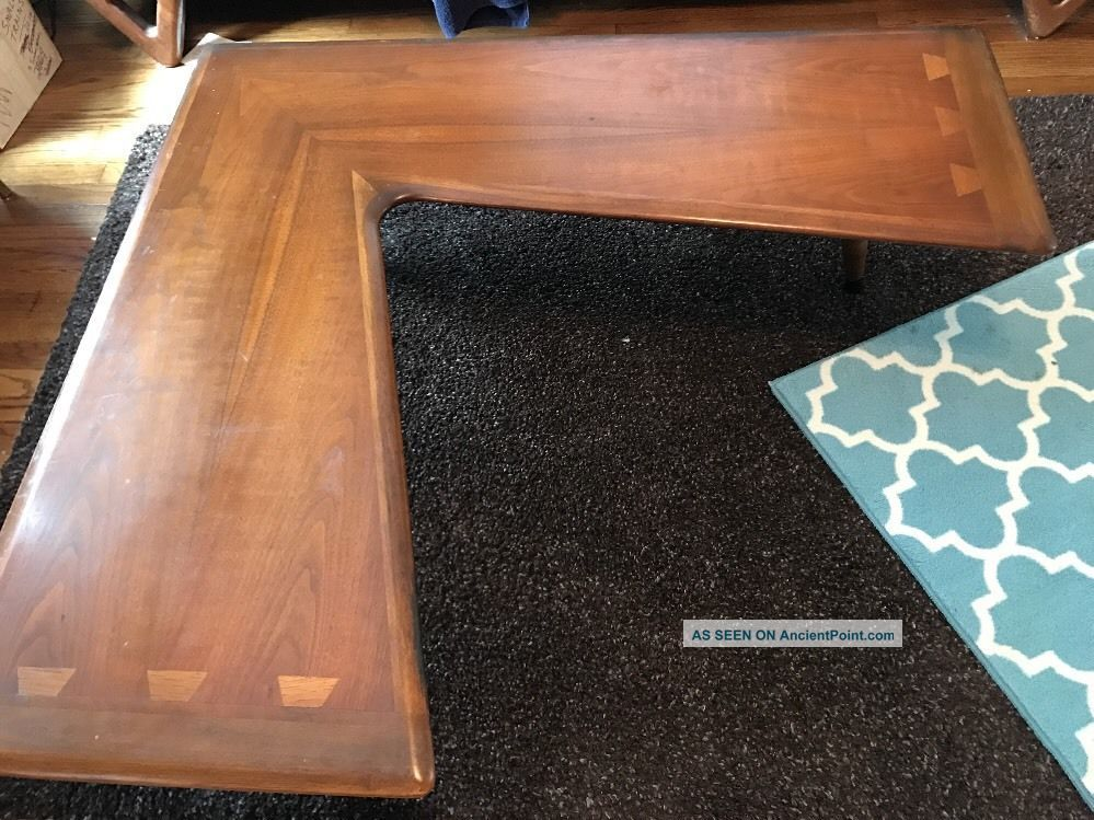 Rare Lane Acclaim Boomerang Coffee Table Dovetail Atomic Era Mid Century Houston Mid-Century Modernism photo