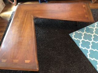 Rare Lane Acclaim Boomerang Coffee Table Dovetail Atomic Era Mid Century Houston photo