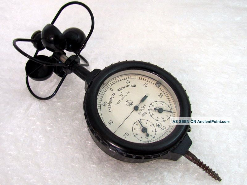 Vintage 1982 Ussr Russian Anemometer Hand Bowl - Shaped Mc - 13 Other Maritime Antiques photo