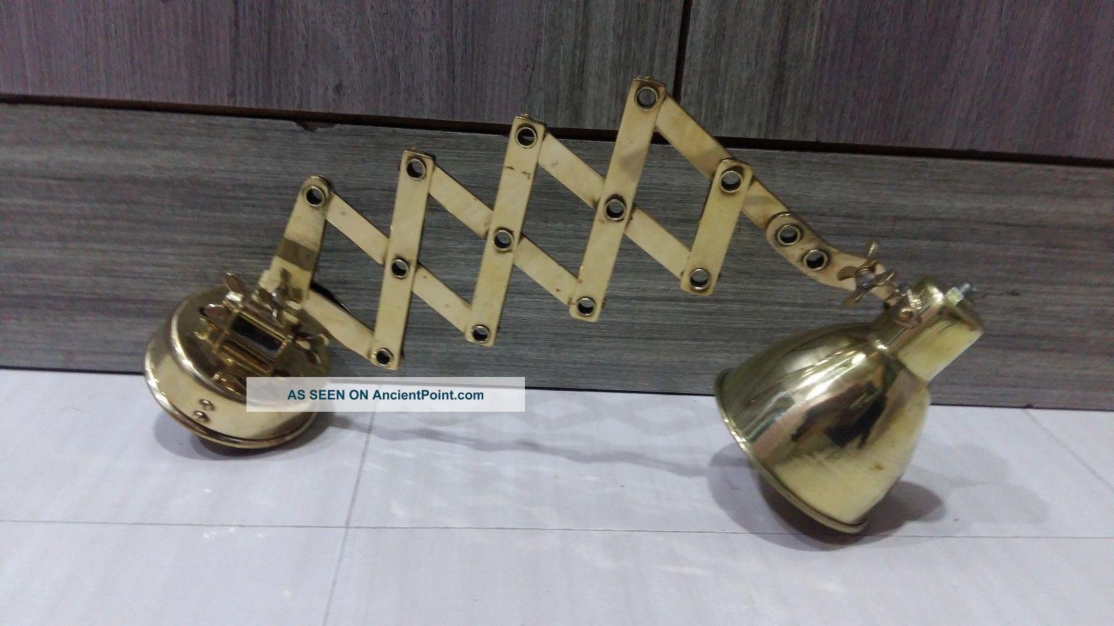 Nautical Light Marine Ship Brass Industrial Tractable Light 1pc Lamps & Lighting photo