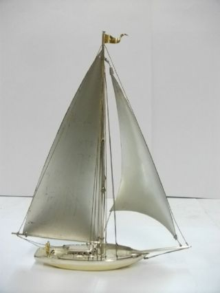 The Sailboat Of Sterling Of Japan.  107g/ 3.  77oz.  A Japanese Antique. photo