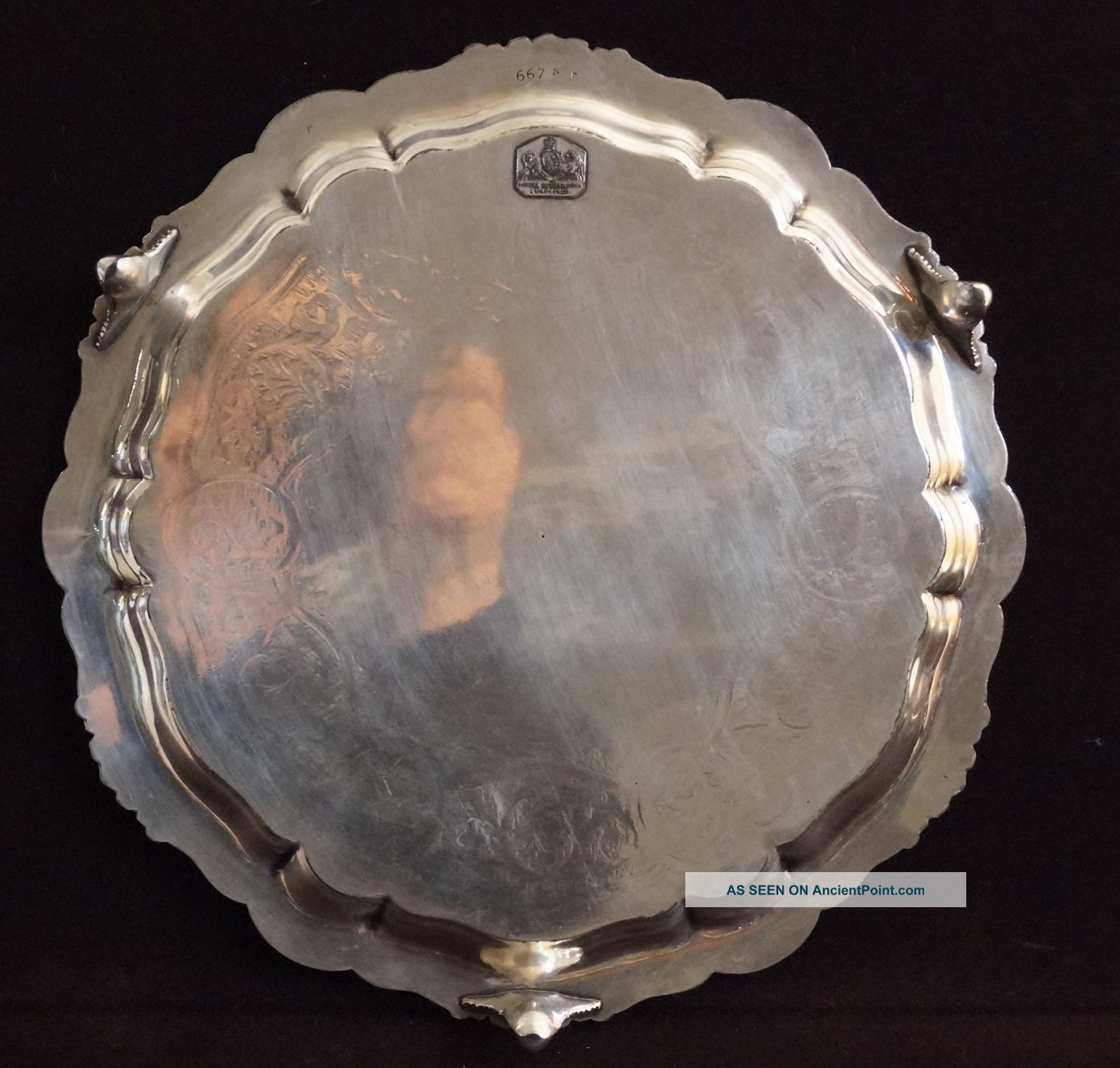 Gorgeous Antique James Dixon & Sons Sheffield Silver Plate Tray Salver Other Antique Silverplate photo