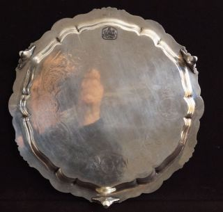 Gorgeous Antique James Dixon & Sons Sheffield Silver Plate Tray Salver photo